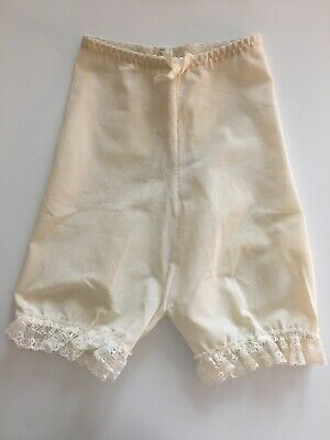 Vintage Plymouth Sheer Undies Bloomers White With Lace Trim Panties Size Small
