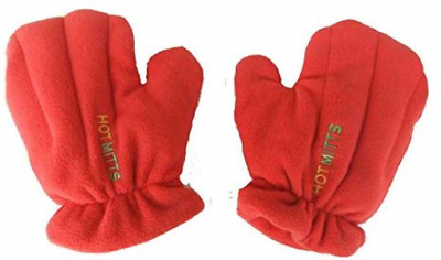 Microwave Hand Warmers Gloves - Pair of Hot Mitts red medium