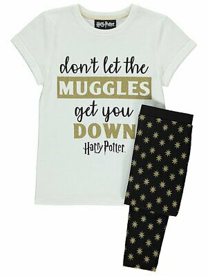 Girls  Harry Potter Slytherin house 100% Cotton Pyjamas 4-13 Years