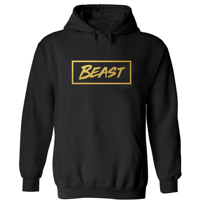 MR BEAST BOX HOODIE Youtuber Beast top Kids UNISEX Black gold Print gamer TShirt
