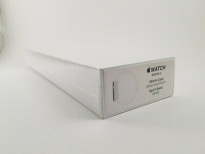 NEW SEALED Apple Watch Series 3 Silver 38mm GPS - White Sport Band - MTEY2LL/A