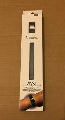 Jivo Milanese Loop Strap Fitbit Alta & HR Small Silver Magnetic Replacement