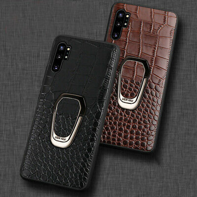 Genuine Crocodile Leather Magnetic Kickstand Cover Case Samsung Galaxy Note 10+