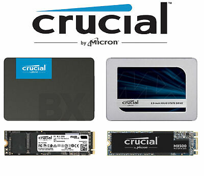 "Crucial SSD M.2 2.5"" BX500 MX500 P1 Internal Solid State Drive Desktop PC Laptop"