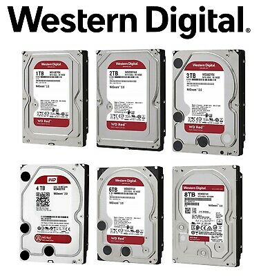 "Western Digital 3.5"" 2TB 3TB 4TB 6TB 8TB WD Red SATA Internal NAS Hard Drive HDD"