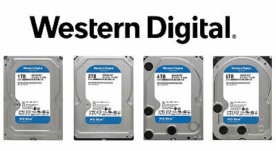 "Western Digital WD Blue 1TB 2TB 3TB 4TB 6TB 3.5"" SATA PC Internal Hard Drive HDD"