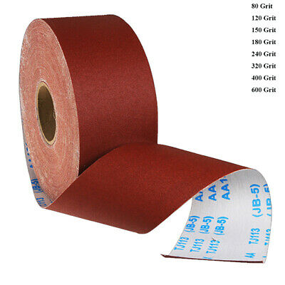 Sandpaper Roll Emery Cloth Sanding Abrasive Sheets 80 120 180 240 400 600 Grit