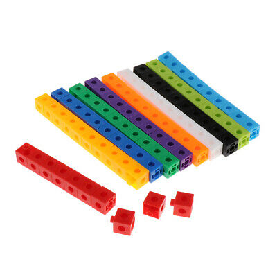 New Early Education Multilink Counting Cubes Snap Blocks Manipulative Math KidS