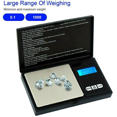 0.1G-1000G Mini Electronic Digital Pocket Gold Jewellery Weighing Kitchen Scales