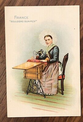 SINGER SEWING MACHINE  trade cards FRANCE beautiful lithographs VICTORIAN RARE