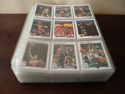 Mint,Complete and sleeved 1991-92 NBA Hoops Basketball Set With All The Subsets