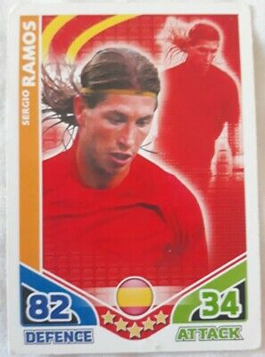 Topps Match Attax Sergio Ramos World Cup South Africa 2010 Card Spain Good