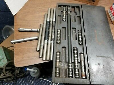 "Lot precision end rule set/inside micrometers 3"" - 15"" Pratt, Lufkin & Starrett"