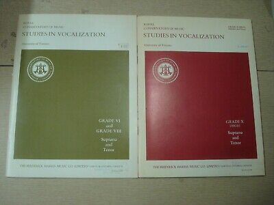 1976 ROYAL CONSERVATORY Studies in Vocalization Gr 6-10 SOPRANO TENOR 93 pgs