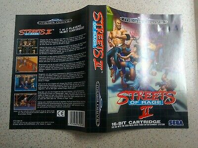 Streets of Rage 2 Cover Art Sleeve Cover - Sega Mega Drive (Genuine Replacement)