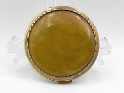 Vintage 1950's Gold Tone *Celluliod* LADIES COMPACT - Very Good