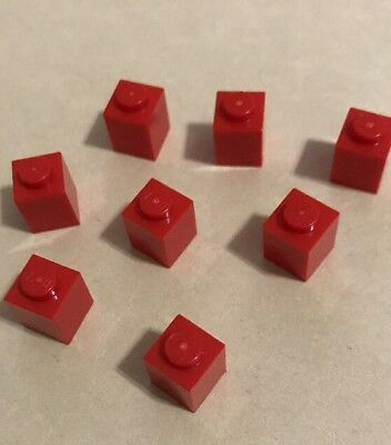 2 LEGO Bright Red Brick With 2 Holders # 4563682