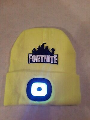 Fortnite  Style Hi  Viz Yellow Illuminated Led Beanie Hat