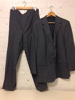 J Press Wool 3 Button Sack Presidential Suit Gray Multi Pane size 46 L