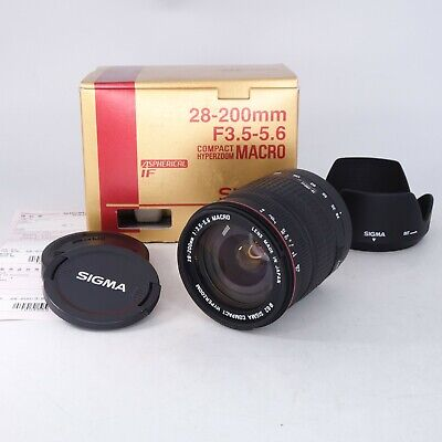 Sigma 28-200mm f/3.5-5.6 Macro Lens for Canon AF - NEW OPEN BOX - 4555