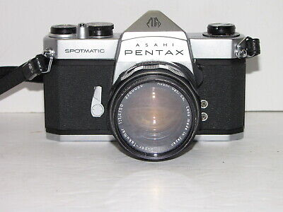 ASAHI PENTAX SPOTMATIC SLR FILM CAMERA 35mm WITH SUPER TAKUMAR 1:1.4 50mm LENS