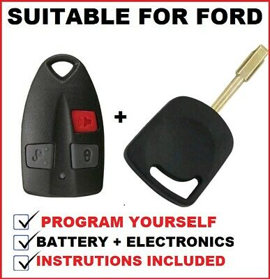 Suitable for Ford Falcon UTE BA  AU 2 & 3 Transponder Car Key Blank + Remote Fob