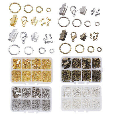 DIY Electroplating Jewelry Making Kit Drop Chain End Lobster Clasps Jump Ring