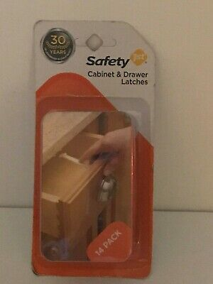 SAFETY 1st Cabinet & Drawer Latches. Brand New Box of 14 pack.