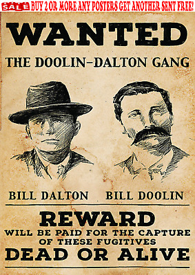 Doolin-Dalton Outlaws Bill Oklahombres Gang Wanted Poster Wild Bunch Old West