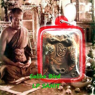 Genuine Thai Magic Amulet Wealth Lucky Salika Bird LP SANIT Thailand Powerful
