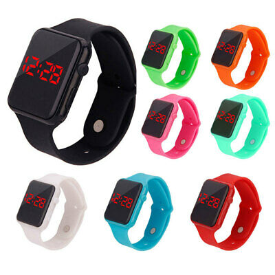 Boy's Girls Unisex Sports Silicon Electronic Wrist Watch Wristwatch Kids Gift