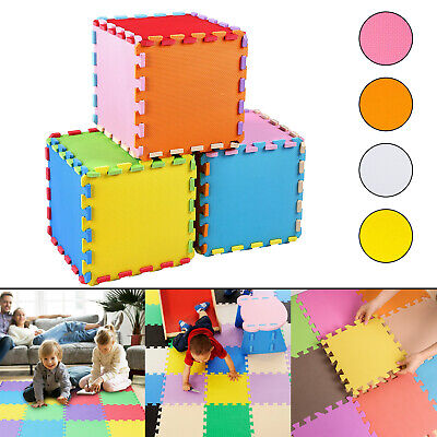 Soft Foam EVA Interlocking Floor Tiles Play Mat Kids Gym Yoga Exercise Fitness