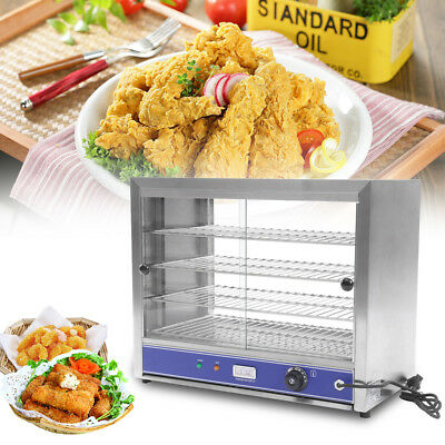 4-Tier Electric Counter Top Heated Display Cabinet Pizza Warmer  Food Warmer