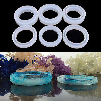 Silicone Mold Casting Mould For Resin Bangle Bracelet Jewelry Making Diy BE