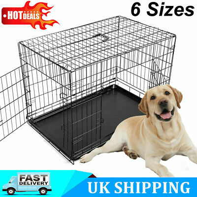 Pet Cage Dog Cat Puppy Training Folding Crate Animal Transport 18-48 Inch NEW