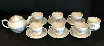 Siberia Porcelain Tea Pot Teacup & Saucer 19 pc Set Haitinskiy Haita 1980-1990