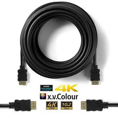 Premium HDMI Cable v2.0 4K HD High Speed Ethernet Lead HDTV 2160p 3D 1m 2m 3m 5m