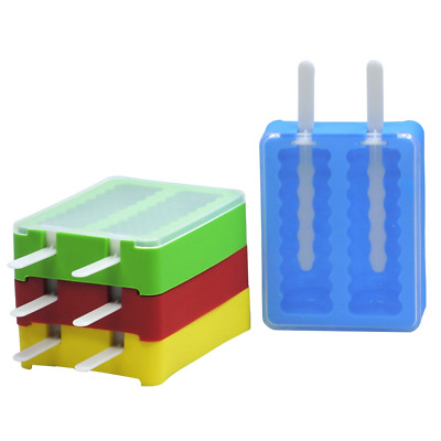BESTONZON 4pcs Ice Pop Mold Silicone Stackable Ice Lollipop Mold Popsicle Mould