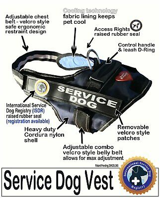 """SERVICE DOG  VEST -  the """"Walkabout"""" by LuvDoggy"""