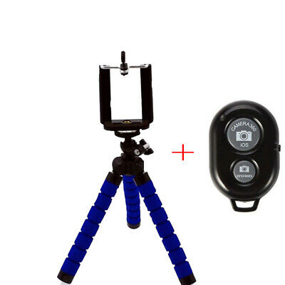 Flexible Tripod Octopus Stand+ Remote+Clip Holder Bracket  For Smartphone
