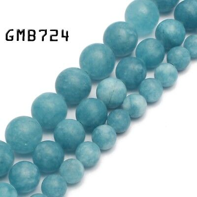 Matte Blue Chalcedony Stone Round Loose Beads for Jewelry Making 6/8/10mm 15''AA