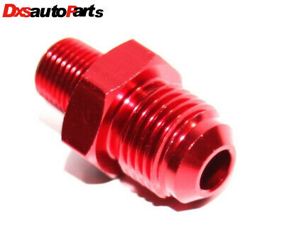 New Brand -6AN Male to 1/8NPT Male Thread Aluminum Hose End Fitting Adapter Red