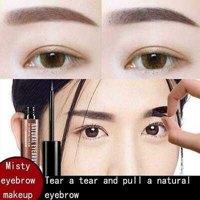 Tear and Dye Eyebrow CreamGel Long Lasting Waterproof Makeup Pencil Brush w N1P5