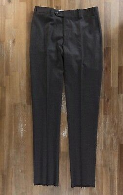 CANALI brown wool stretch pants trousers authentic - Size 32 US / 48 EU - NWOT