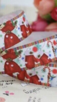 1M RED /& WHITE CANDY CANE GROSGRAIN  RIBBON 6//10//22//38mm #CRAFT//GIFT WRAP