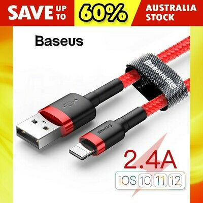 MFI Certified Baseus USB Lightning Fast Charging Cable For iPhone 11 Pro X XS XR