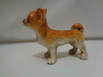 Cast Iron Metal Dog Paperweights Chihuahua & Spaniel