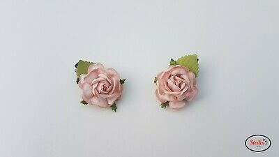 Hair Clips Flower Rose Women Girls Wedding Bridesmaid Handmade Fascinator Gift