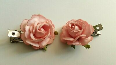 Rose Flower Hair Clips Fascinator Bridesmaid Wedding Party Women Girls Hair pin
