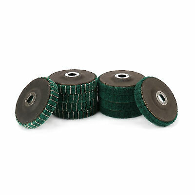 "4/"" Abrasive Wire Nylon Polishing Buffing Wheel Pad 5//8/"" Bore 3//5/"" Thick 180//240#"